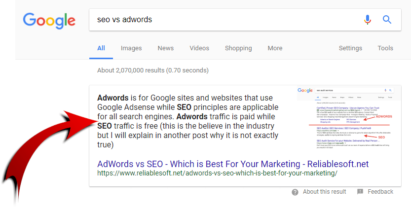 SEO VS Adwords