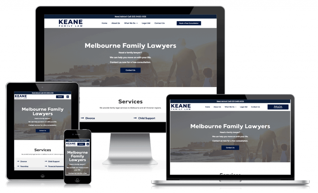 Keane Family Law Mockup