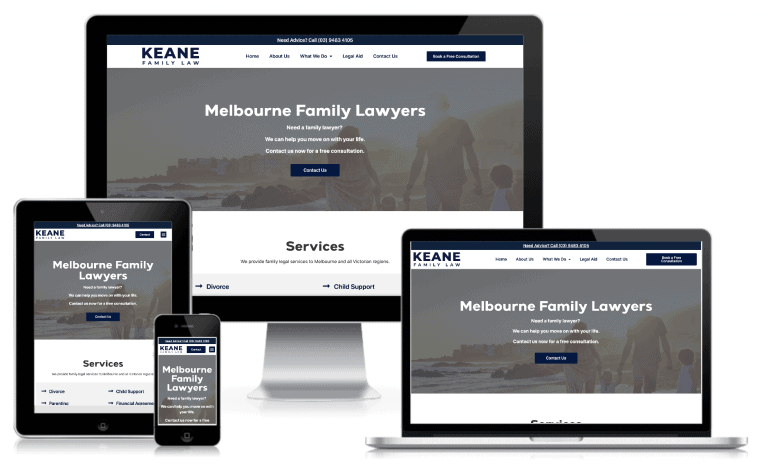 Keane Family Law Mockup