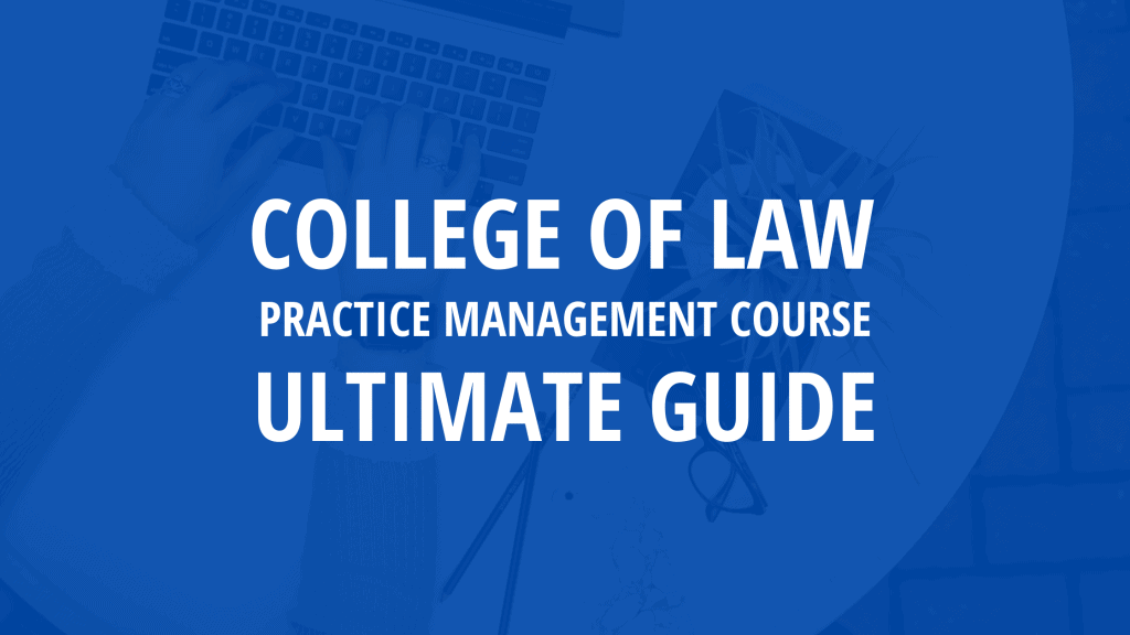college of law practice management course