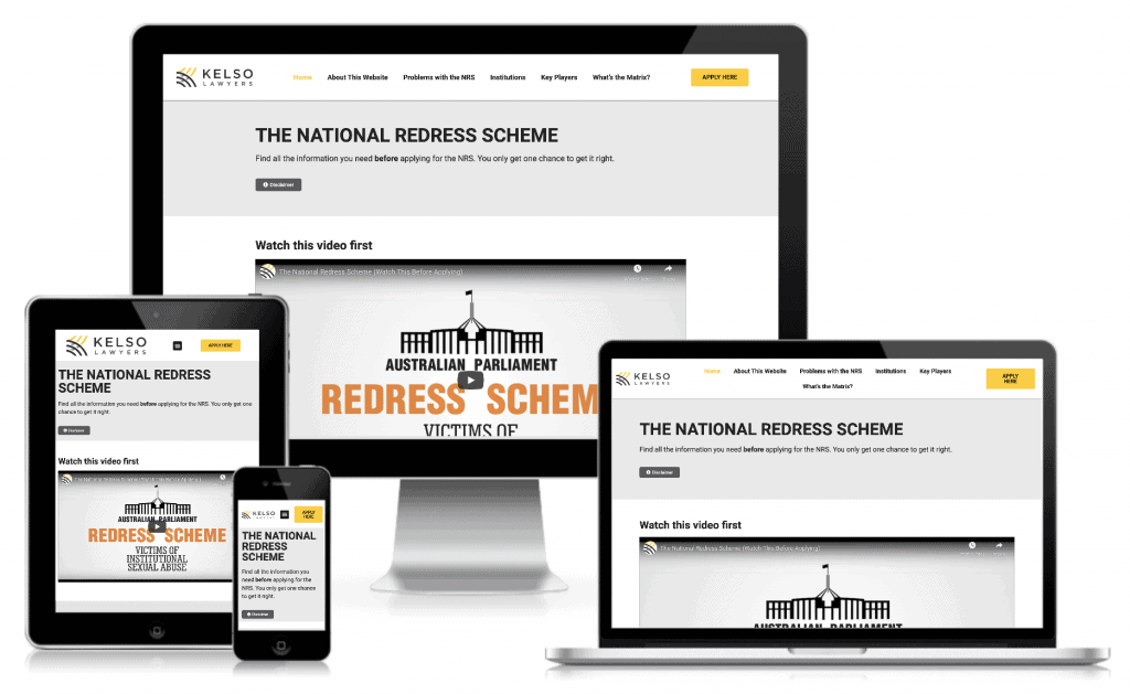 National Redress Scheme website by Kelso Lawyers