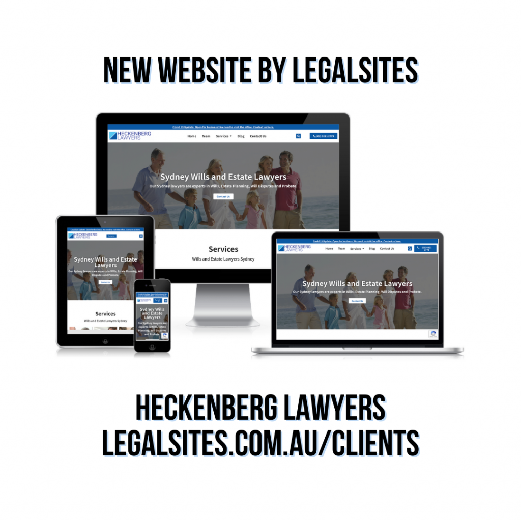 Heckenberg Lawyers new website by Legalsites